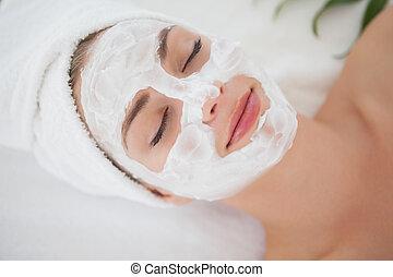 美しい, 顔の治療, 得ること, ブロンド