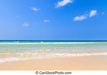 美しい, boavista, 海洋, 浜, 土地回復令状 - verde, 光景