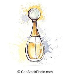美しい, bottle., 香水