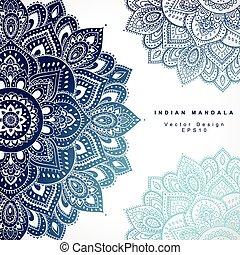 美しい, c, ornament., 挨拶, invitation., indian, 結婚式, 花