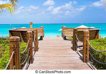 美しい, caicos, カリブ海, トルコ人, 島, トロピカル, providenciales, 風景