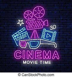 美しい, cinema., ネオン 印