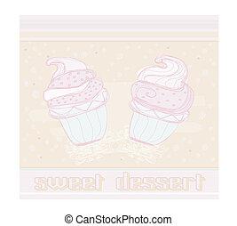 美しい, cupcake, デザイン
