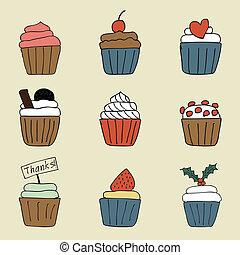 美しい, cupcake