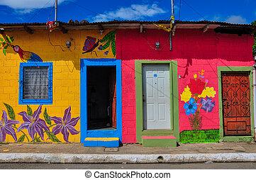 美しい, el, 有色人種, サルバドール, 家, apaneca