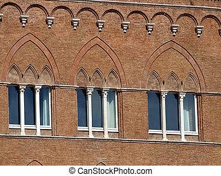 美しい, gothic, 窓, 中に, イタリア