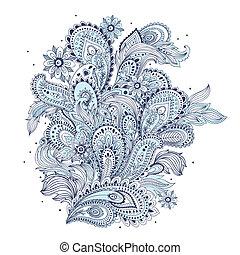 美しい, indian, ペイズリー織, 装飾