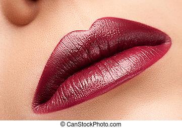 美しい, lips., 赤