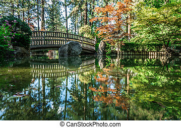 美しい, manito, 庭, 公園, spokane, 日本語, washingon