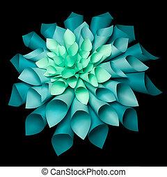 美しい, origami, 花, 構造
