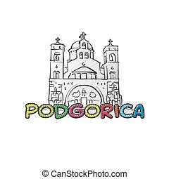 美しい, podgorica, sketched, アイコン