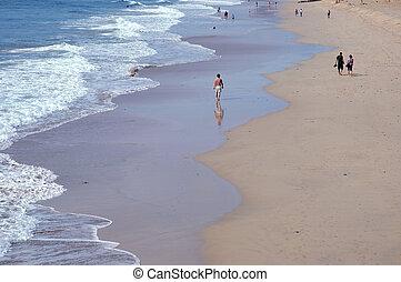 美しい, porto, 浜, santo, 島