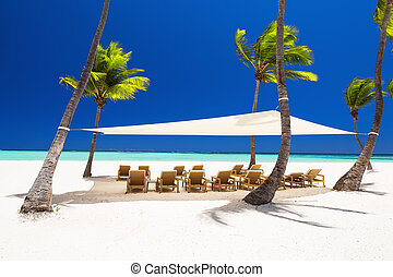 美しい, punta, cana, リゾート, 贅沢, 白い浜, 砂