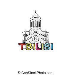 美しい, sketched, tbilisi, アイコン