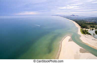 美しい, terengganu, 浜