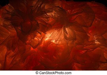 美しさ, ライト, 抽象的, 手ざわり, 布, によって, 芸術的, 背景, shines, 赤