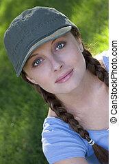 美丽的妇女, 帽子