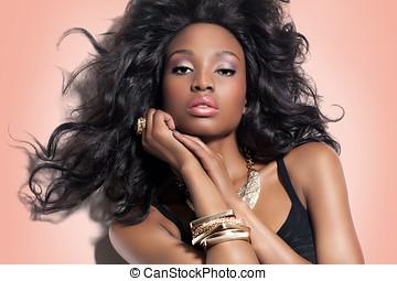 美丽的妇女, african