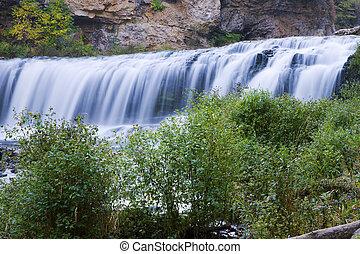 美丽, 河, 急流, 在中, wisconsin.