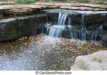美丽, 瀑布似地落下, 瀑布