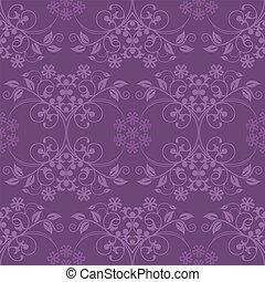 美丽, 紫色, 墙纸, seamless