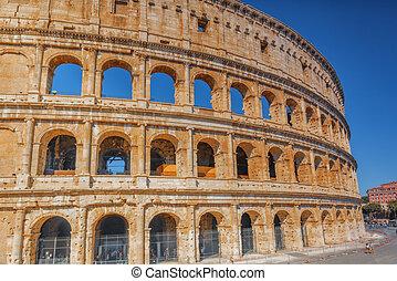 美丽, 风景, 在中, colosseum, 在中, rome-, 一, 在中, 奇迹, 在中, 世界, 在中, the, 早晨, time.
