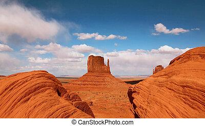 美丽, butte, 在中, 纪念碑山谷, 亚利桑那