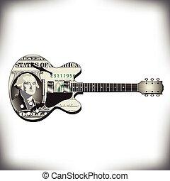 美元, 吉他, 藝術