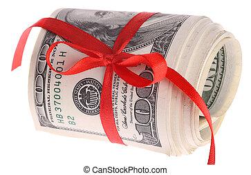 美元, 钱。, 卷, banknote