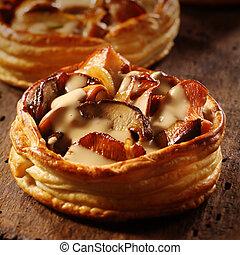 美味, 個人, 蘑菇, 餅
