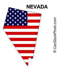 美国, 条纹, 声明, 设计, 星, 内华达