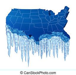 美國人, 深, 結冰
