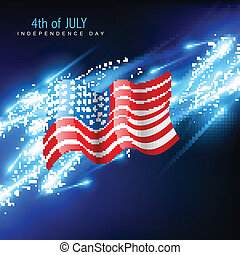 美國人, 矢量, 旗
