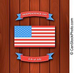 美國人, 背景, 由于, 旗