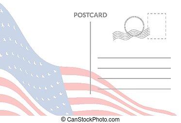 美國人, 郵政, 旗, 卡片