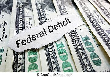 美國政府, 聯邦, 赤字