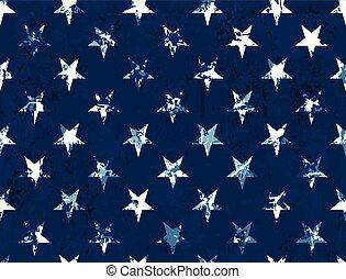美國旗, 星, -, seamless, 圖案, textured