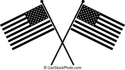 美國旗, 矢量, 圖象