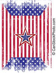 美國旗, grunge