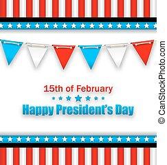 美國, 總統, 愉快, 棉經毛緯平紋呢, 小冊子, 天, 旗