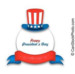 美國, 總統, 慶祝, 天, 卡片, 愉快