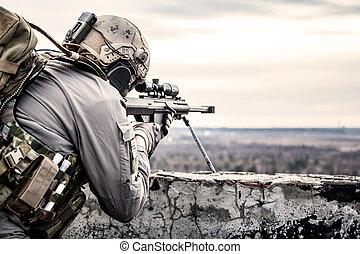 美國, 軍隊, 狙擊手