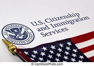 美國, 部門, ......的, 祖國, 安全, 標識語
