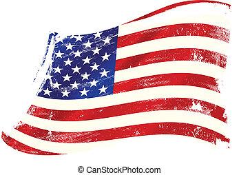 美國, gruge, 旗