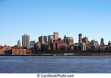 美國, -, nyc, 曼哈頓, bronx, 看法