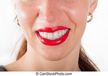 美麗的婦女, 微笑