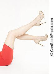 美麗的婦女, 腿, 由于, 高跟鞋