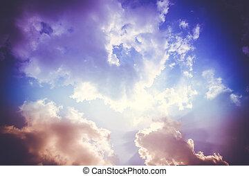 美麗, 云霧, 天空