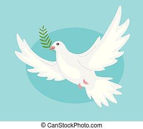 美麗, 和平, 鴿