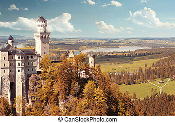 美麗, 幻想, 城堡